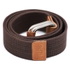 Brown Tan Canvas Genuine Leather Belt for Men Online