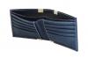 Bifold Blue Leather Wallet Online