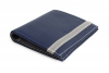 Blue Beige twin color leather wallet online
