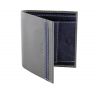 Gray & Blue Bifold Leather Wallet for Mens Online