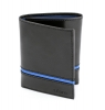 Trifold Black & Blue Genuine Leather Wallet for Men
