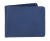 Blue color bifold canvas leather wallet for men's online