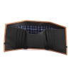 Trifold Tan Black Genuine Leather Wallet for Men's Online