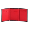 Black & Red Trifold Mens Leather Wallet Online