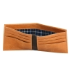 Tan Bifold Canvas Genuine Leather Wallet