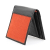 Red Black Bifold Canvas Leather Wallet for Men's Online