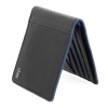 Black Blue Thin Leather Wallet Online for Men Online