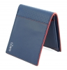 Blue Red Bifold Genuine Leather Wallet for Men Online