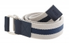White & Navy Blue Canvas Leather Belt Online for Men Online
