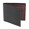 Black Burgundy Bifold Leather Wallet for Men's Online