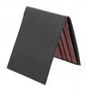 Black Burgundy Bifold Leather Wallet for Men's Online