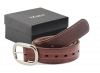 Formal Leather Belt | Dark Tan Color Genuine Leather Belt Online