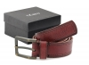 Burgundy Colored Pure Genuine Leather Belt Online