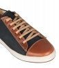 Black leather mens sneaker