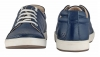Navy Blue Genuine Leather Sneakers