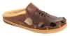 Dark Chocolate Leather Slipper