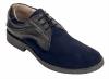 Blue Black Genuine Leather Brogues Shoes for Men Online