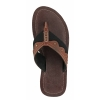 Brown Black Leather Slipper