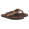 dark brown leather slipper