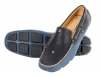 Men's Blue Black Genuine Leather Driving Shoes Online