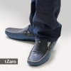 Men's Blue Black Genuine Leather Driving Shoes Online
