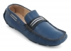 Blue Leather Driving Shoes for Men Online