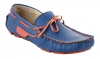 Blue Orange Leather Driving Shoes