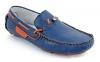Blue Orange Genuine Leather Driving Shoes for Men Online