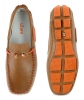 Tan Orange Color Leather Driving Shoes for Me Online