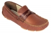 Tan Brown Leather moccasin