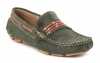 Dark Green Mens Leather Driving Shoes