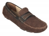 Brown Black Leather Driving Shoes for Men Online