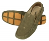 Olive Green Leather Driving Shoes for Men Online
