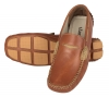 Tan Color Leather Driving Shoes