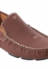 Maroon Leather Driving Shoes