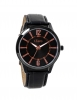 Black Leather Strap Analog Wrist Watch Online