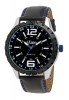 Analog Black Leather Strap Watch for Men Online