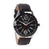 Black Leather Strap Water Resistant Mens Analog Watch Online