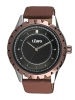 Maroon Leather Strap Analog Wrist Watch Online