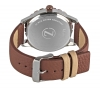 Maroon Leather Strap Analog Wrist Watch Online