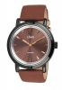Maroon Leather Strap Analog Wrist Watches Online for Men Online
