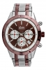 Brown Stainless Steel Silver Chronograph Watch  for Men Online