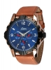 Tan Color Leather Strap Multi Function Wrist Watch Online