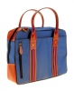Blue Leather Laptop Bag