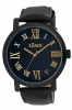 Black Leather Strap Analog Wrist Watch for Men Online