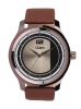 Men's Watch with Maroon Leather Strap & Silver Dial Online