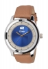 Beige Color Leather Strap Analog Wrist Watch Online for Men Online