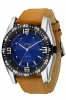 Tan Color Leather Strap & Blue Dial Watches for Men Online