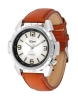 Men's Tan Color Leather Strap Analog Watch Online