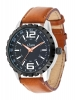 High Performance Analog Tan Color Leather Strap Watch Online